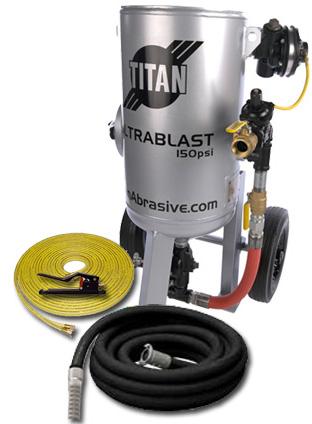 300lb sandblast machine with blast hose and nozzle
