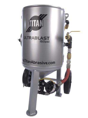 Titan U600 6 cu ft sandblasting machine with pressure hold remote control